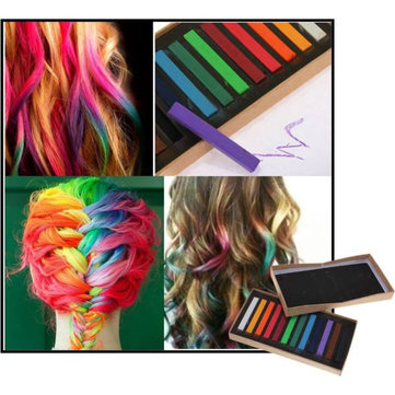 12 colors non toxic temporary hair color chalk square hair chalk us 6 95