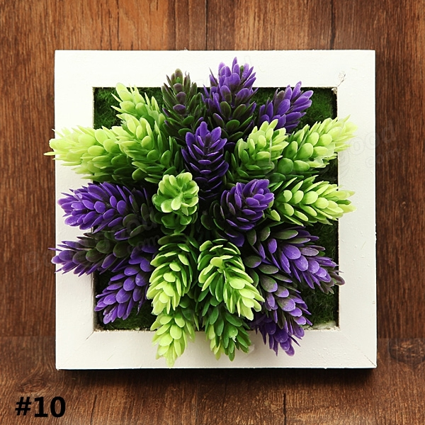 3D Artificial Plant Simulation Flower Frame Wall Decor ... on Hanging Wall Sconces For Flowers id=64641