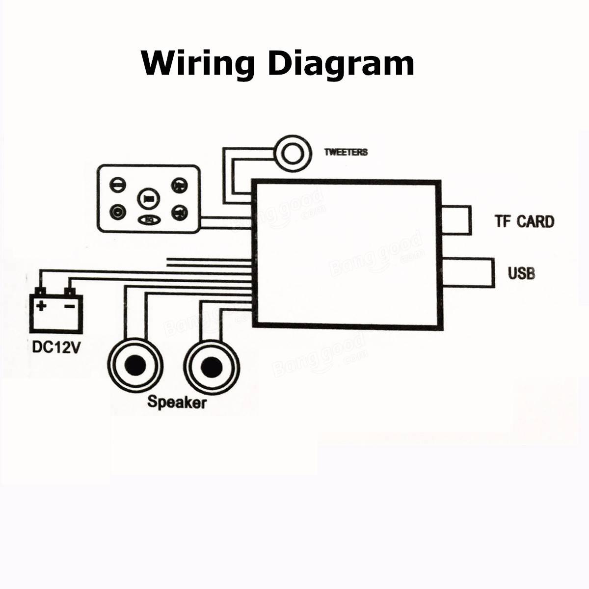 Moto Audio Stereo Fm Amplificateur Mp3 Haut Parleur Anti Vol D Alarme Usb Avec Fonction