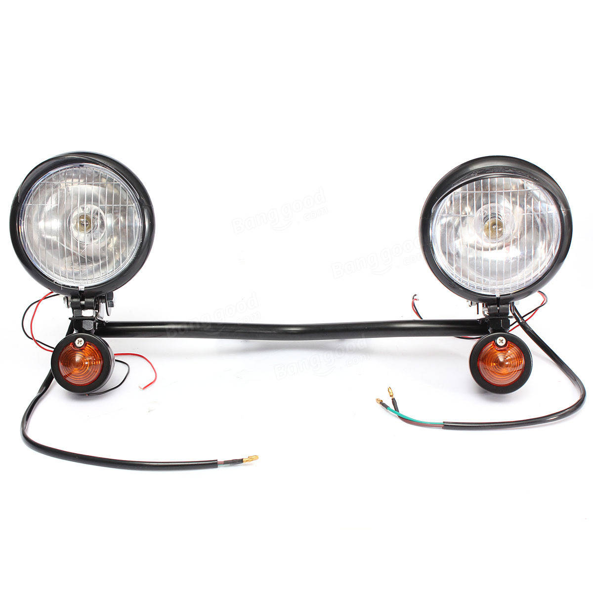 Motorcycle Headlight Bar Indicators Chop Trike Project