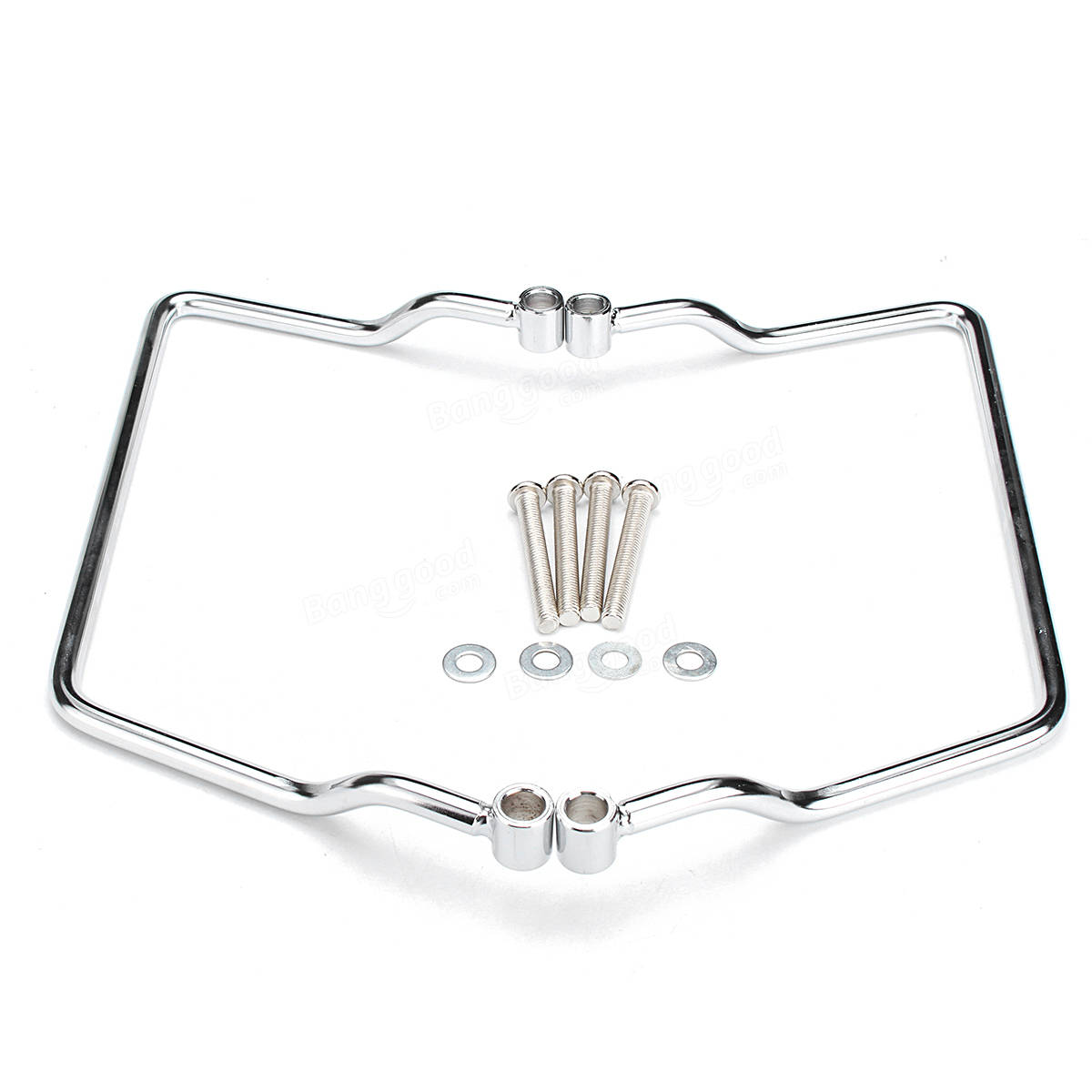 Saddle Bag Chrome Mount Bracket For Yamaha V Star Dragstar