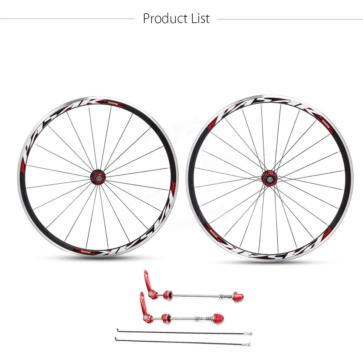 Pasak 700c Ultra Light Road Bicycle Wheel Front Rear
