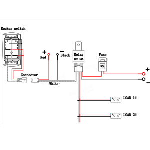 12V 40A LED Fog Light Wiring Harness Laser Rocker Switch Relay Fuse Kit Sale  Banggood