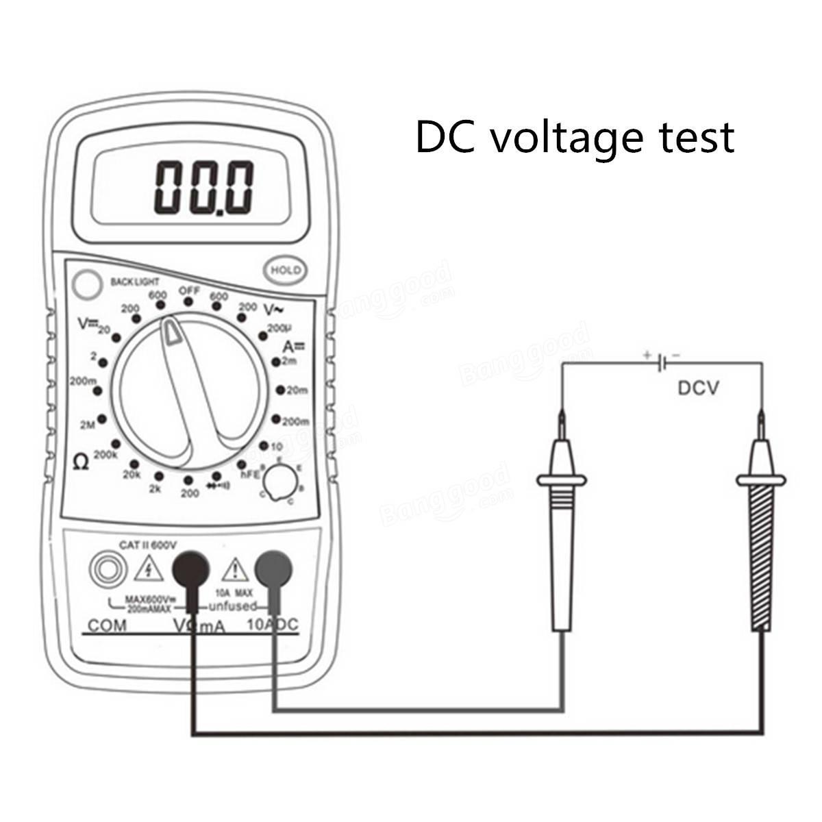 Original Dt850l Digital Lcd Multimeter Voltmeter Ammeter