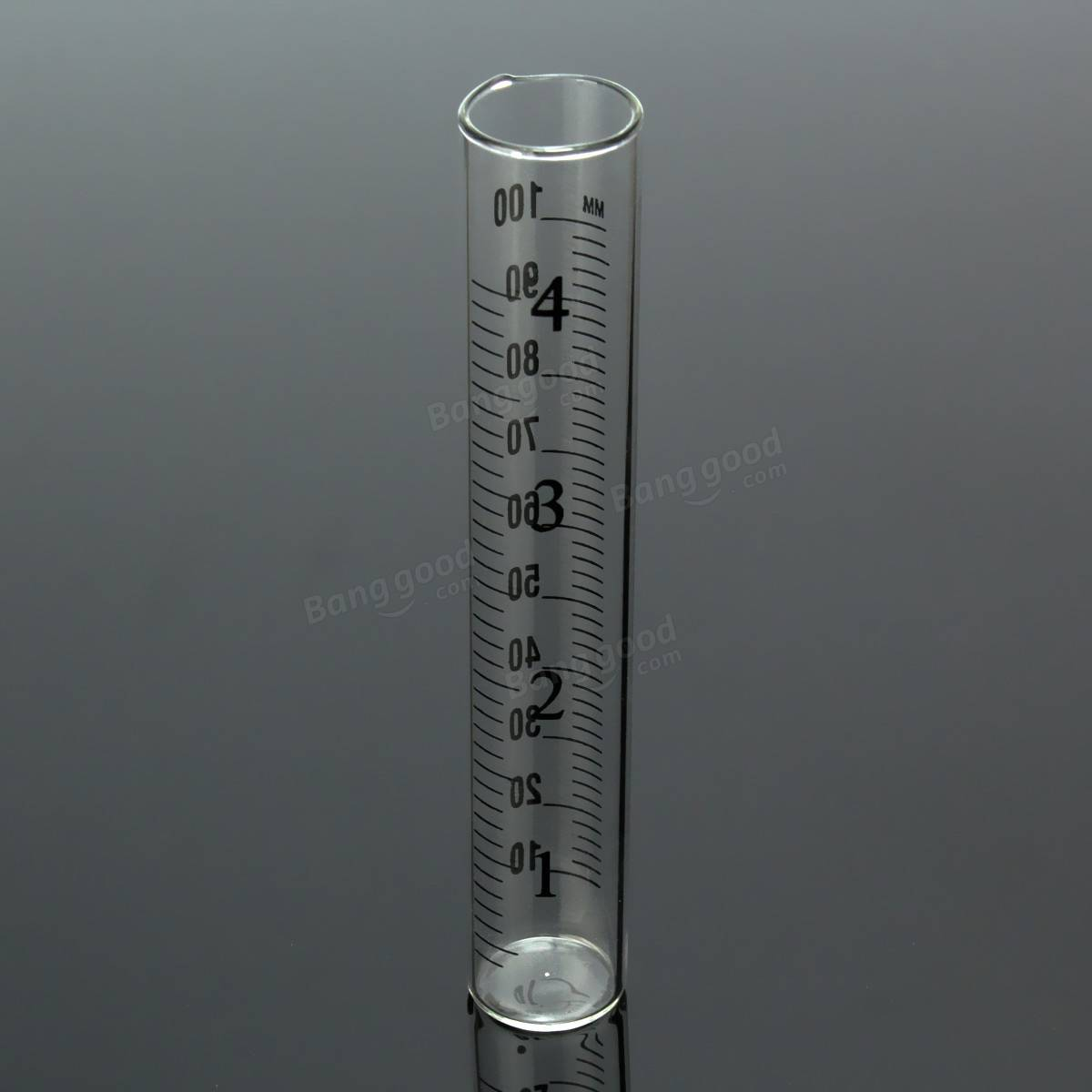 4 Inch Capacity Glass Rain Gauge Replacement Tube Outdoor Home Sale