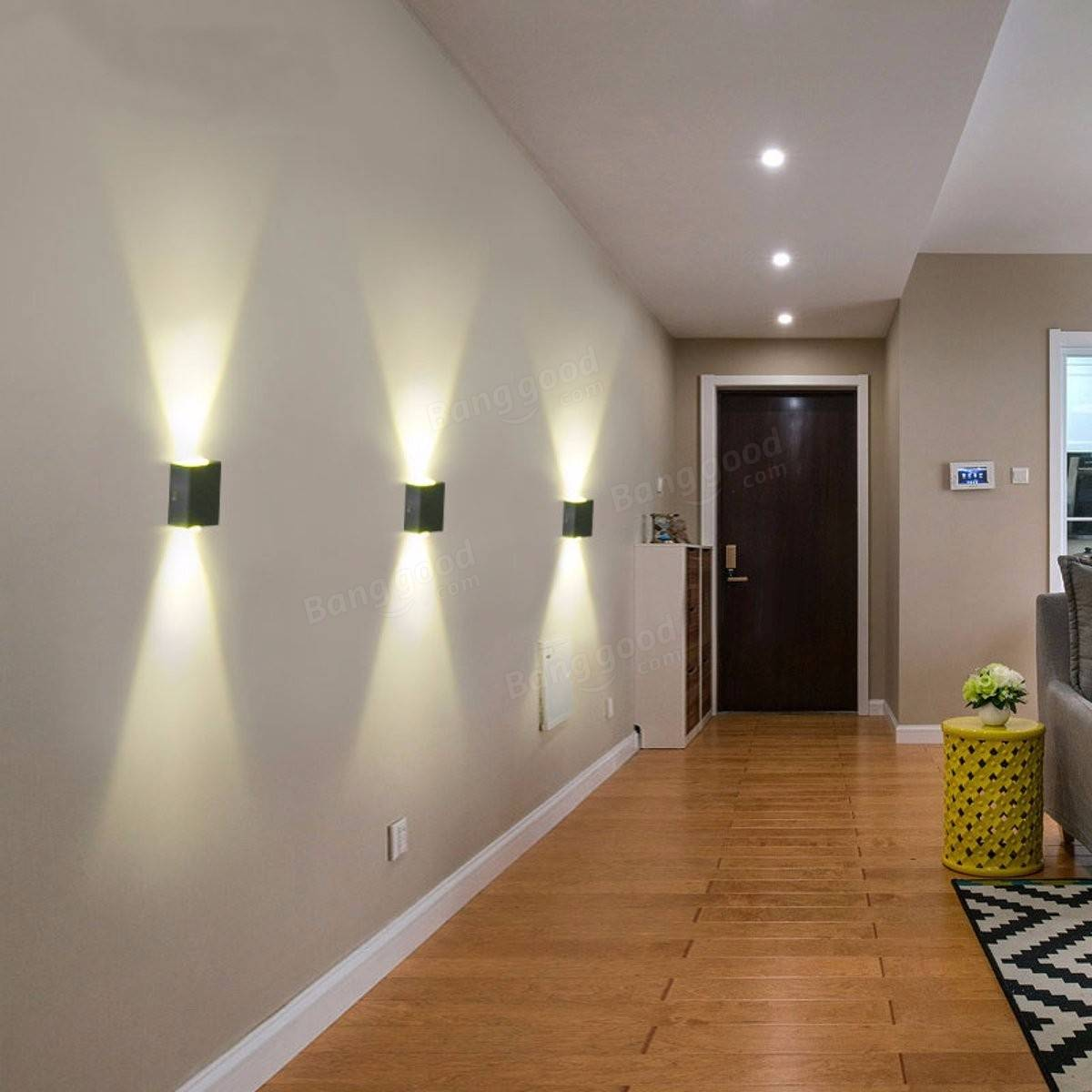 Aluminum 2W Modern LED Wall Light Up Down Sconce Lighting ... on Contemporary Wall Sconces Lighting id=43370