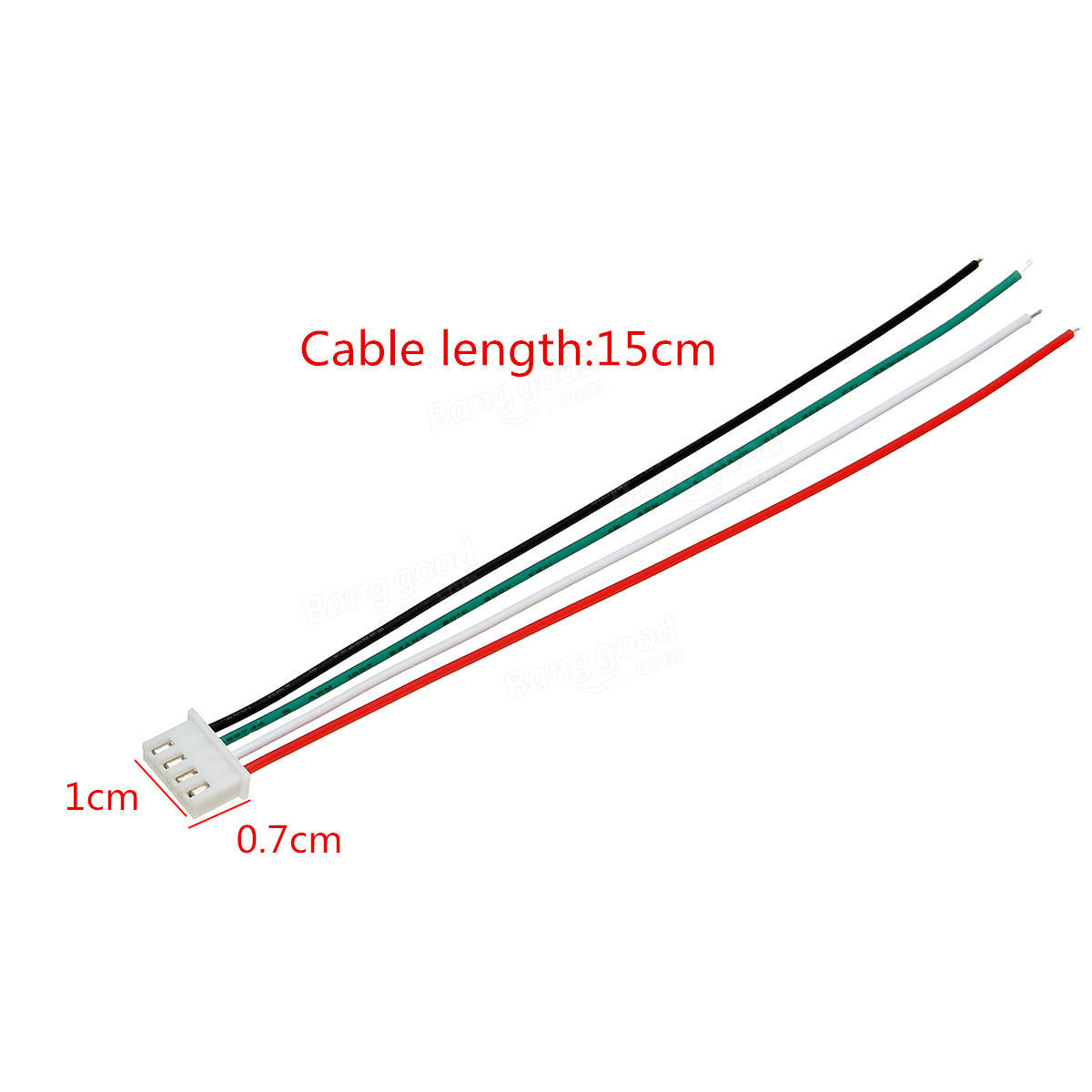Excellway 20pcs Xh Pitch 2 54mm Single Head 4pin Wire To