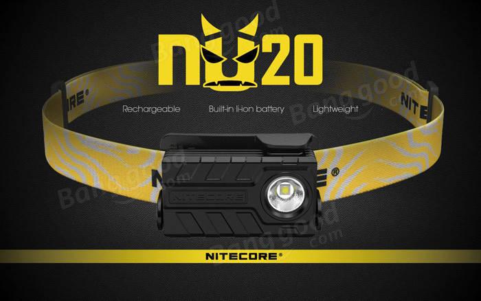 Nitecore NU20 CRI Nichia 219B 270LM USB Rechargeable Lightweight LED Headlamp