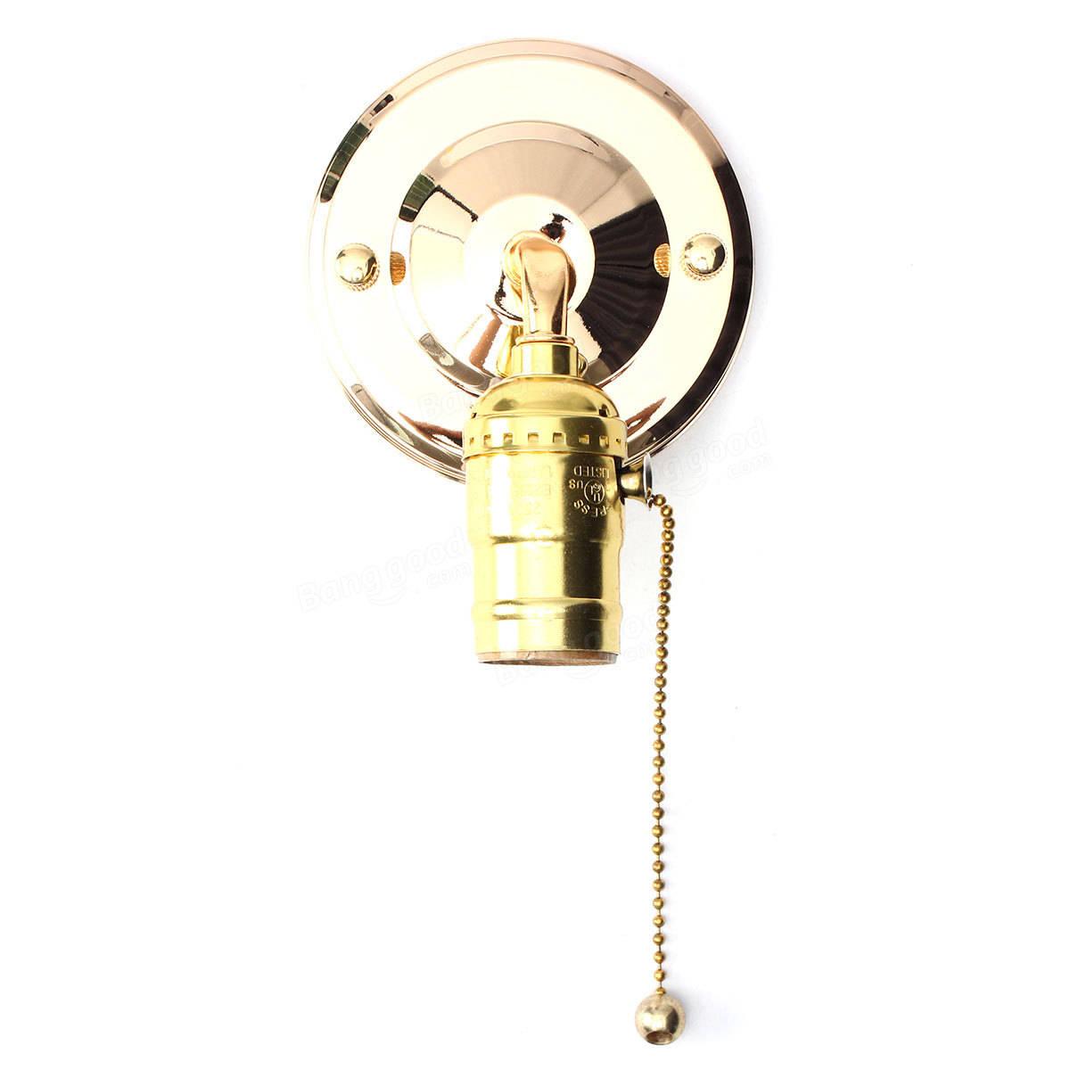 E27 Antique Vintage Wall Light Chain Design Sconce Lamp Bulb Socket Holder Fixture Sale