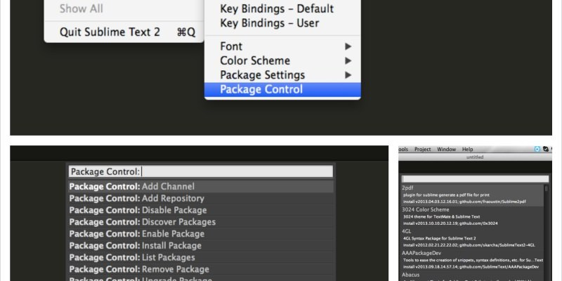 SublimeText 套件管理控制器 Package Control