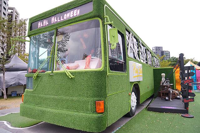 勤美綠園道恐怖巴士來襲│吸血鬼的棺材、骷髏人監獄與胯下往後看的俏皮鬼