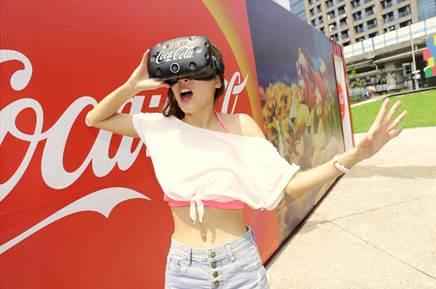 可口可樂VR體驗館快閃活動來囉!本周假日將於草悟廣場舉辦,打卡拍照還有免費可口可樂可以喝!
