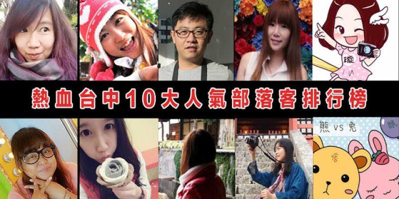 2016年熱血台中十大人氣部落客排行榜