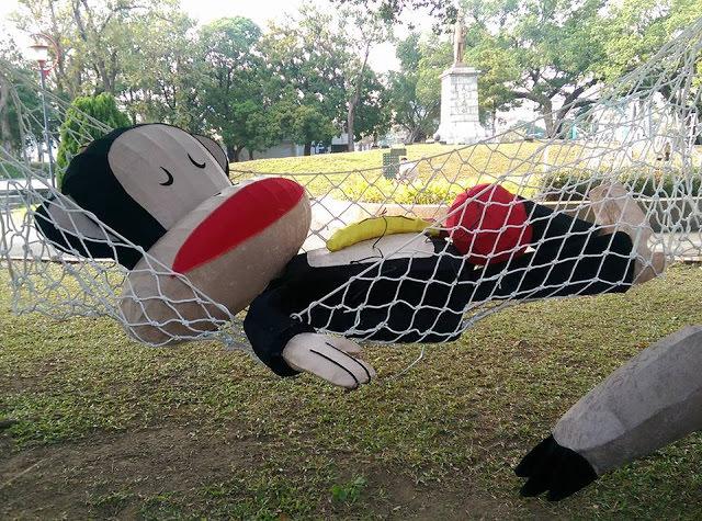 2016台中燈會搶先報│台中公園大嘴猴2/15燈況進度分享