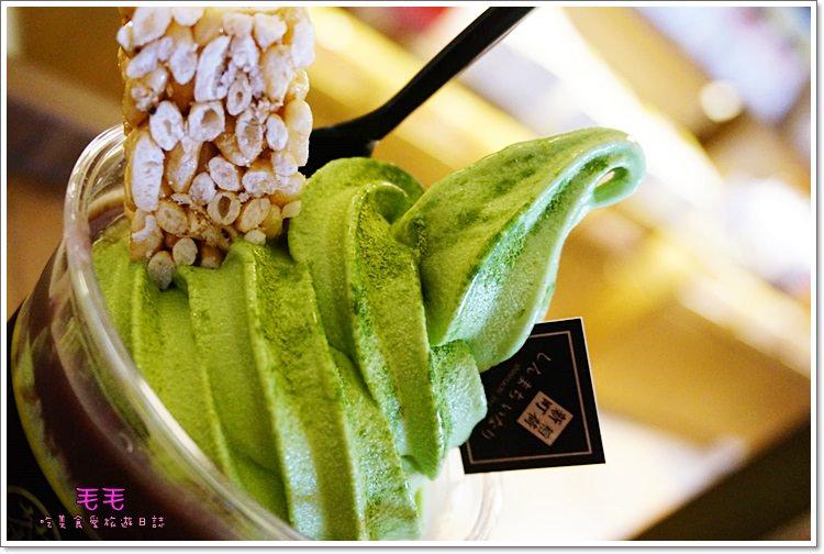 【毛毛專欄】台南中西美食~三星園 新町‧稻荷。林百貨新開幕抹茶專賣,抹茶霜淇淋、米香與迷你白玉聖代