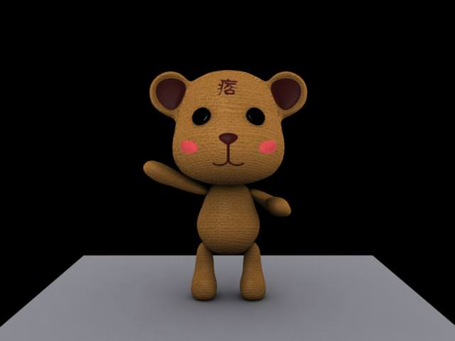 【3d max】3d熊痞痞造型設計-三視圖