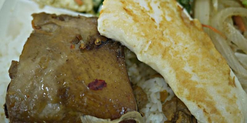 【台中美食】五洲排骨王-超豐富的鐵板雞腿加鮮魚排