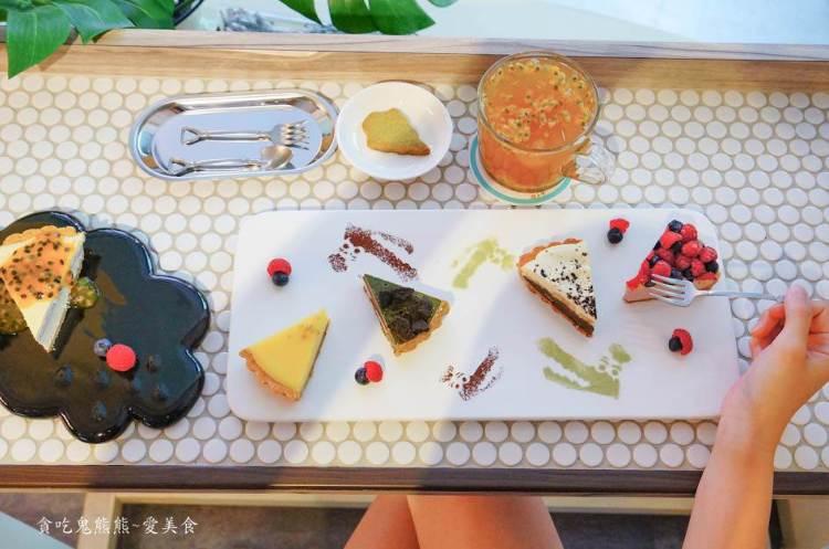 高雄美食 新興區/Lady crocodile-女孩兒會冒粉紅泡泡的-小姐派對一盤4種口味甜點,跟著熊享受下午茶時光