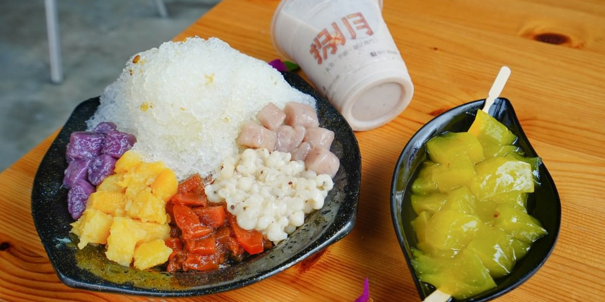高雄美食 前鎮區/捌月甜品專門-手炒桂花蜜清冰,天然山梔子粉粿,天然欸尚好