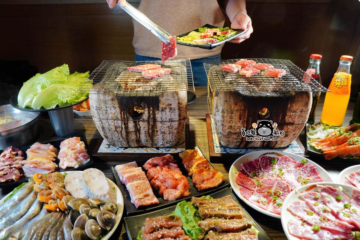 高雄燒肉吃到飽 桃太郎日式炭火燒肉-高雄巨蛋商圈美食,595元吃到飽,聚餐餐廳推薦