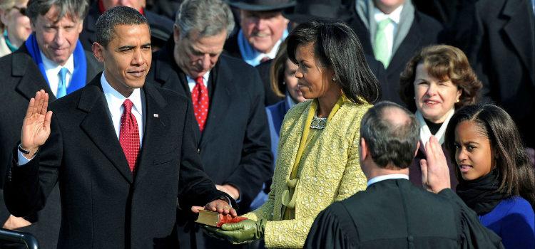 Resultado de imagen de proclamación de obama como presidente 2008