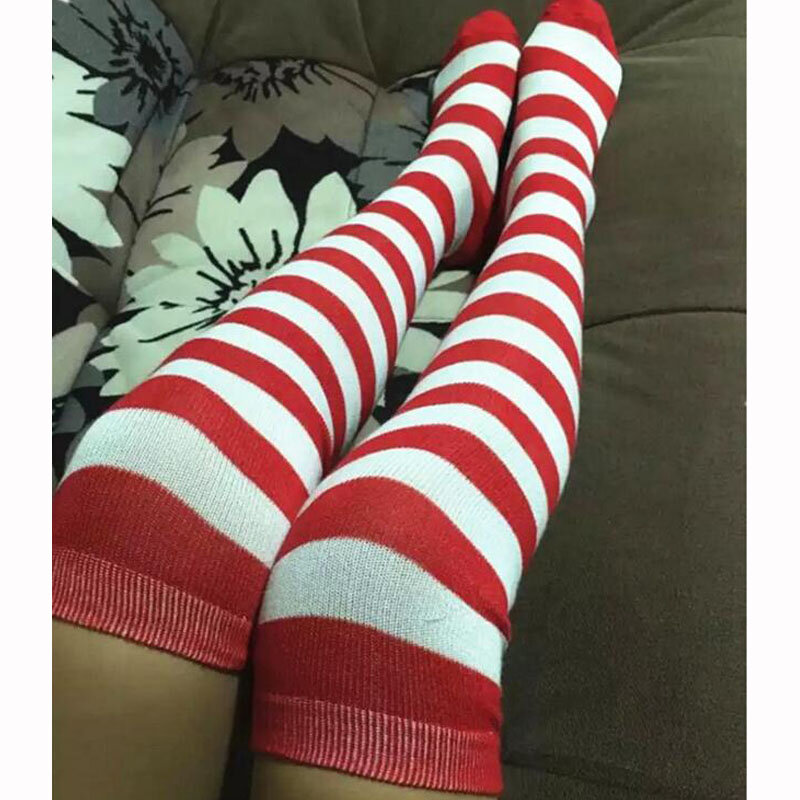 Get special offers & fast delivery options with every purchase on ubuy;. Fashion Women Striped Stockings Girls Thigh High Stocking Sexy Striped Over the Knee Socks Anime ...