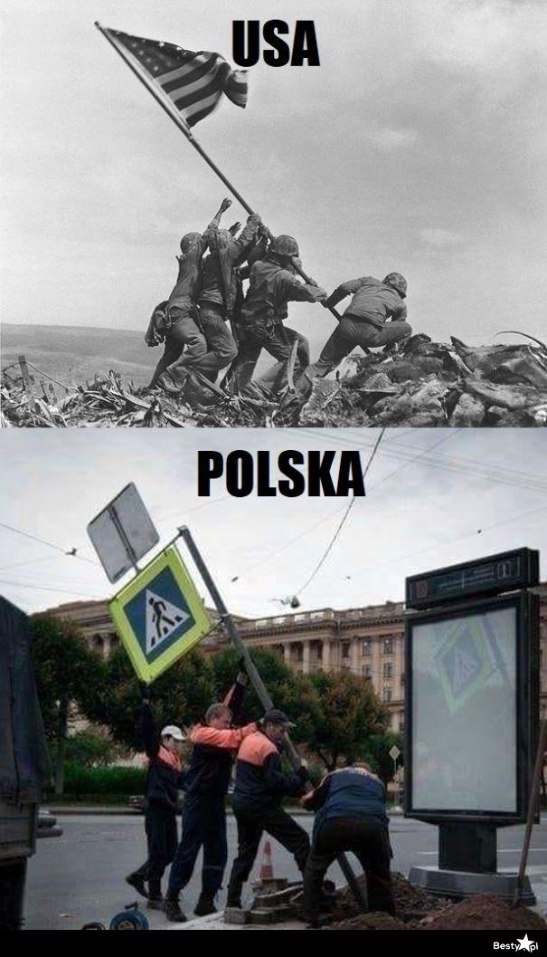 USA vs Polska - Obrazkowo.pl - najlepsze memy w sieci.