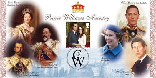 Royal Wedding: Miniature Sheet, The Ancestry of Prince William