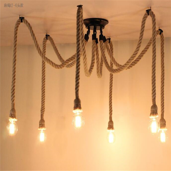 6 heads industrial chandeliers pendant