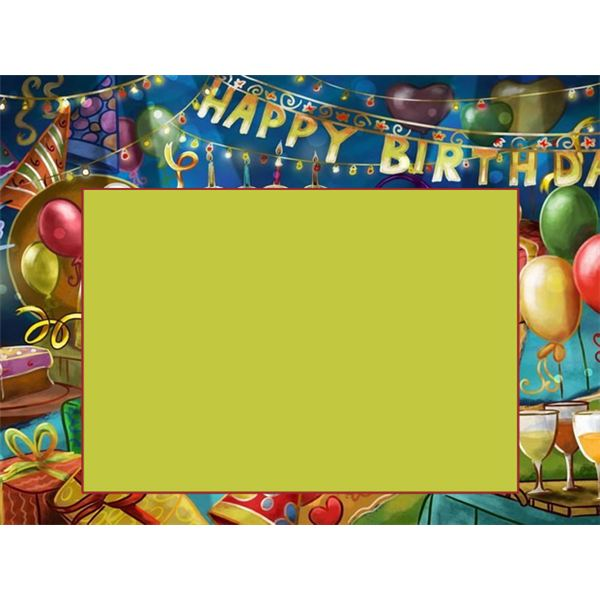 free birthday borders for invitations