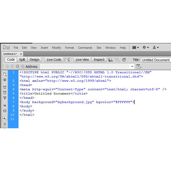 Dreamweaver Tutorial Adding Background Images to Web Pages