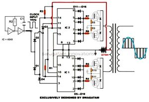 How to Build a High Eifficiency Modified Sine Wave Inverter