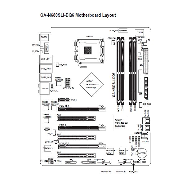 motherboard diagram wiring chart and connection guide