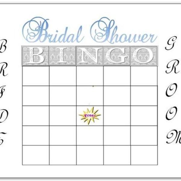Free Printable Blank Bingo Cards For Bridal Shower Infocard