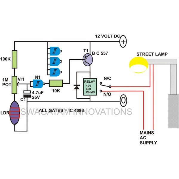 how to build automatic night light control or switch