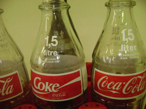 Other Antiques & Collectables - 3 X 1.5L GLASS COKE ...