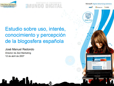 Estudio sobre blogs Zed Digital