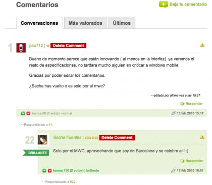 comentarios weblogs sl