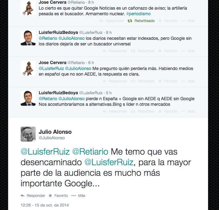 Google sin medios o medios sin Google