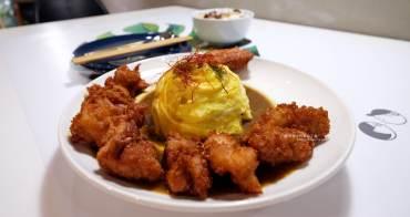 台中北區│渼金日食doru-天津商圈美食.小美和小金的咖哩.可愛店狗二筒.旁邊就有收費停車場