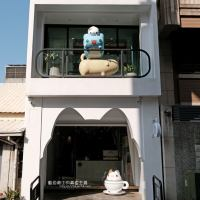 台中西區│奶泡貓咖啡-咖波迷不能錯過,奶泡貓獨立開咖啡館囉,光是超萌咖波、狗狗和奶泡貓公仔及奶泡貓型拱門就很好拍