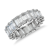Emerald Cut Diamond Eternity Ring In Platinum 800 Ct Tw