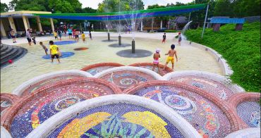 桃園親子景點   龍潭運動公園,夏日玩水免費景點,順便看戰機戰車直升機