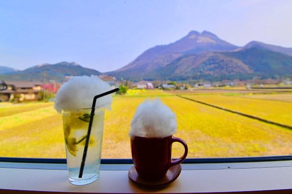 九州由布院景觀餐廳   湯布院千家咖啡館,望見由布岳第一排放空地方,親子友善/甜點/早午餐/棉花糖漂浮