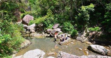 宜蘭礁溪》猴洞坑瀑布(白石腳步道). 十分鐘攻頂的玩水打卡秘境. 擁有眺望龜山島超棒視野