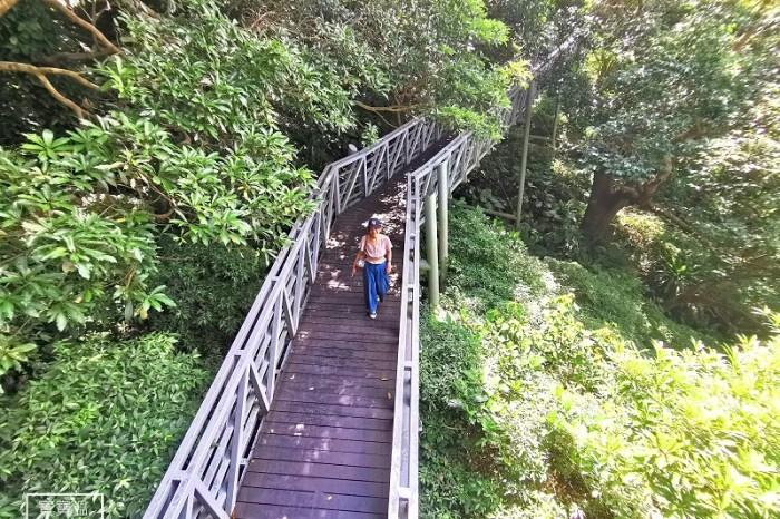 新北五股》觀音山林梢步道. 穿梭林間空中步道. 親子踏青好選擇. 還可以眺望林口台地好風光