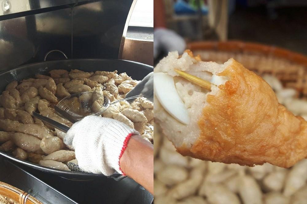 【臺南 北區】黃記鮮旗魚黑輪。手工現炸還包水煮蛋 - 吃在臺南