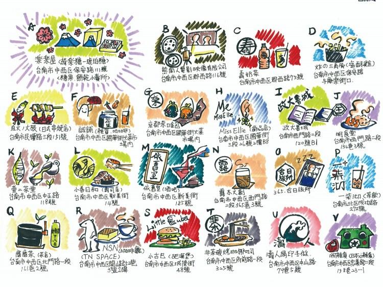 台南限定版手繪地圖,在地人才知道的私藏美食大公開!