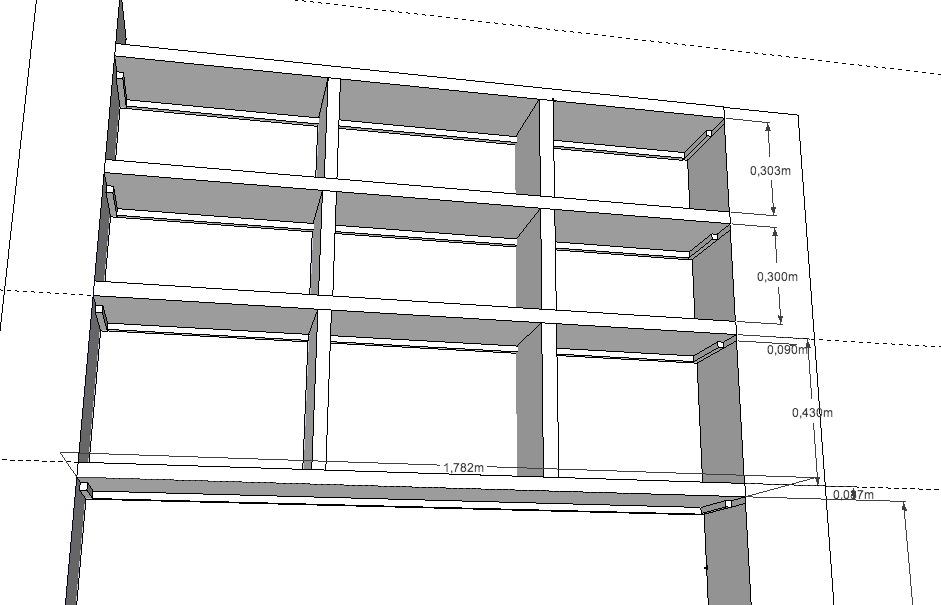Bibliothque En MDF 38 Avec Longue Porte 176cm Entre 2