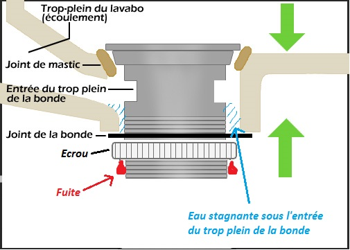 Bonde Eau Qui Perle Le Long Du Filetage